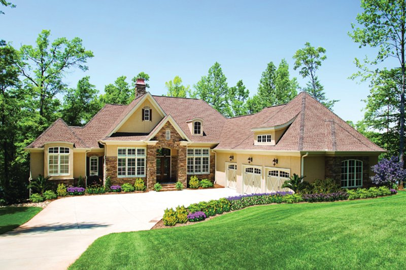 European Exterior - Front Elevation Plan #929-929 - Houseplans.com