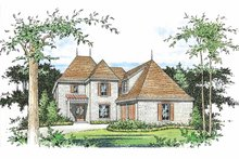 Architectural House Design - Country Exterior - Front Elevation Plan #15-392