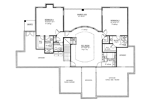 Traditional Floor Plan - Lower Floor Plan Plan #437-73