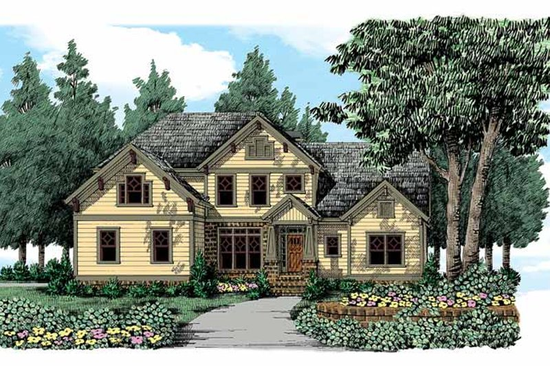 Craftsman Exterior - Front Elevation Plan #927-336