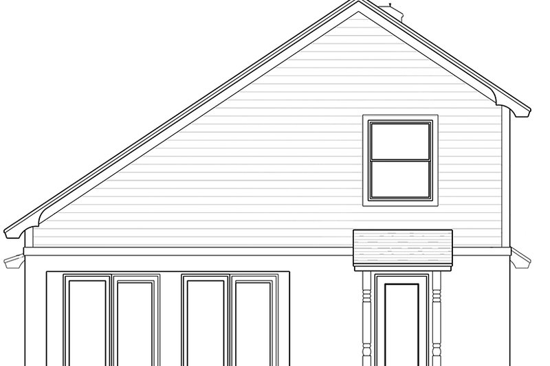 European Exterior - Rear Elevation Plan #1058-108 - Houseplans.com