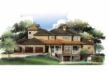 House Design - Mediterranean Exterior - Rear Elevation Plan #952-210