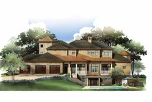 House Plan Design - Mediterranean Exterior - Rear Elevation Plan #952-210