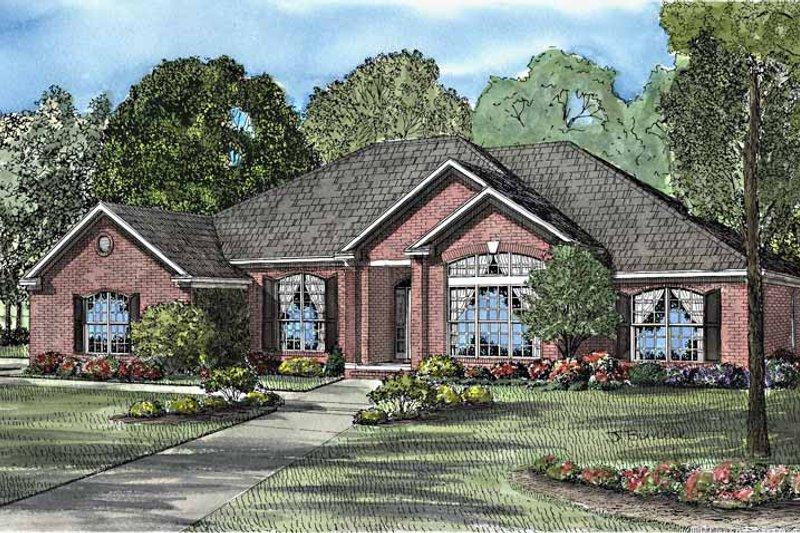 Dream House Plan - European Exterior - Front Elevation Plan #17-3151