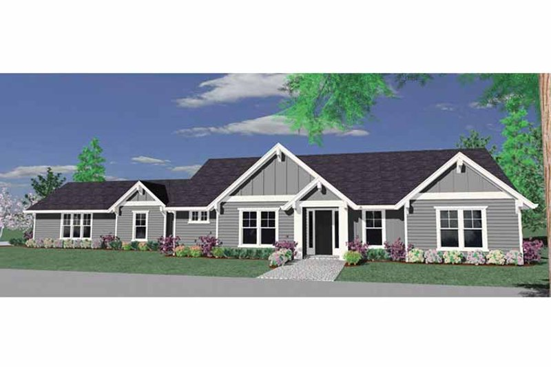 Traditional Exterior - Front Elevation Plan #509-208 - Houseplans.com