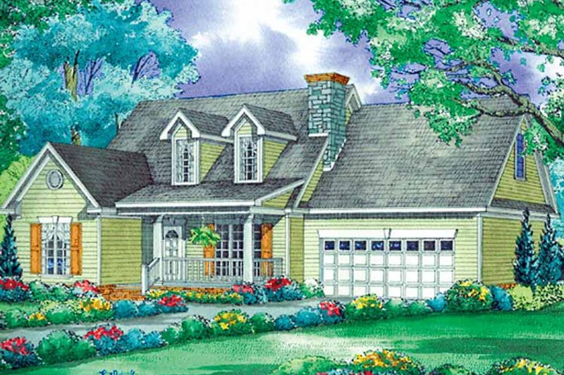 Country Exterior - Front Elevation Plan #17-3195 - Houseplans.com