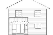 Contemporary Exterior - Rear Elevation Plan #23-2583