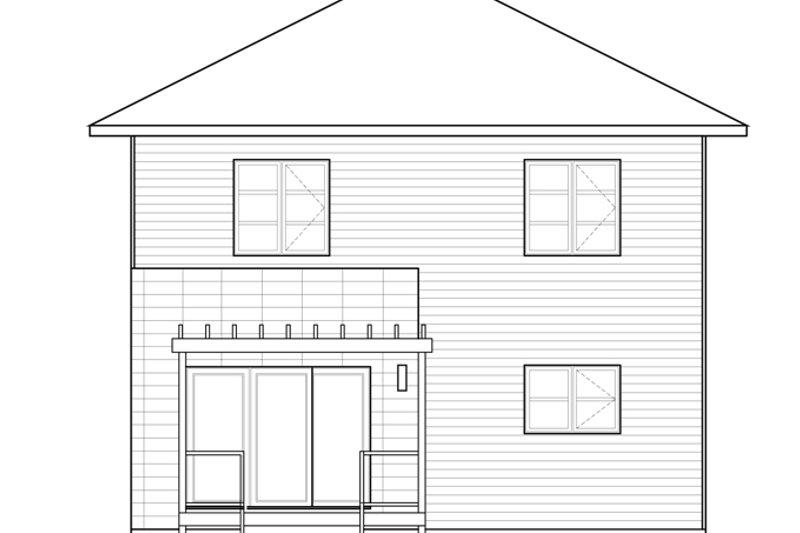 Contemporary Exterior - Rear Elevation Plan #23-2583 - Houseplans.com