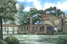 Craftsman Exterior - Rear Elevation Plan #17-3382