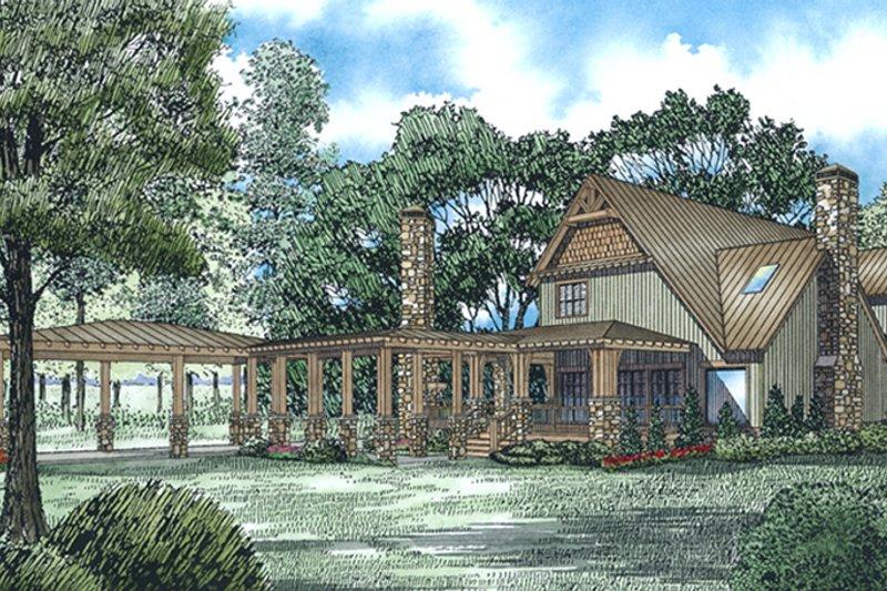 Craftsman Exterior - Rear Elevation Plan #17-3382 - Houseplans.com