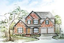 Architectural House Design - Traditional Exterior - Front Elevation Plan #54-299