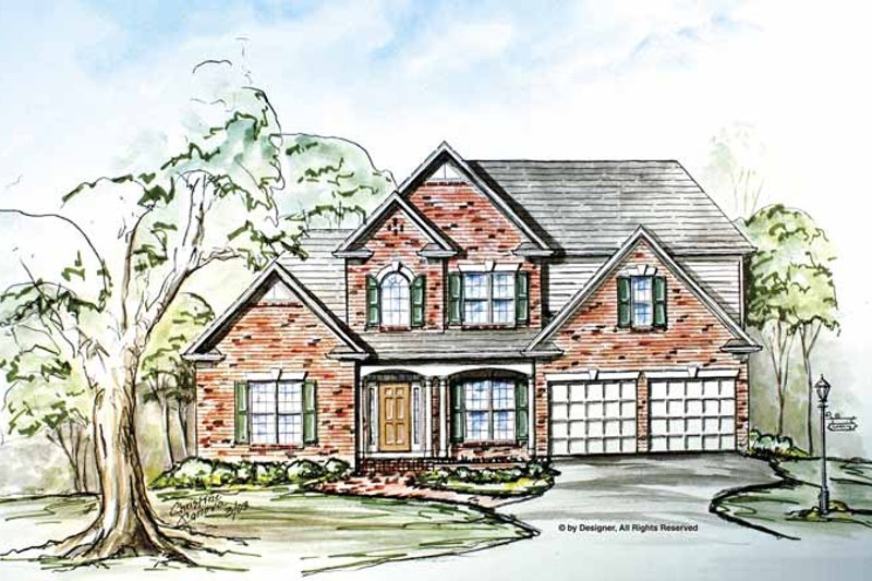 Home Plan - Traditional Exterior - Front Elevation Plan #54-299