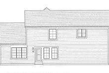 Country Exterior - Rear Elevation Plan #46-845