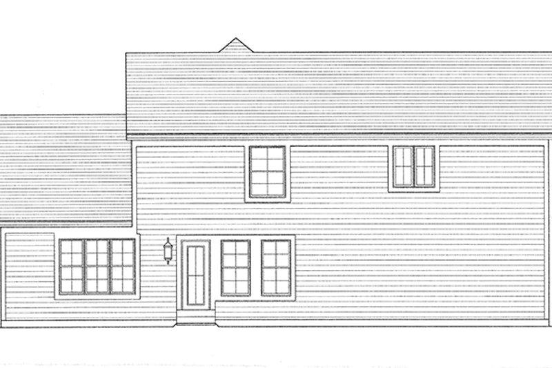 Country Exterior - Rear Elevation Plan #46-845 - Houseplans.com