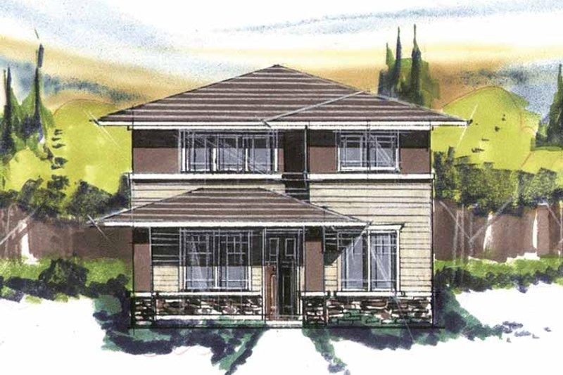 Prairie Exterior - Front Elevation Plan #509-414 - Houseplans.com