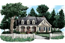 Country Exterior - Front Elevation Plan #927-307