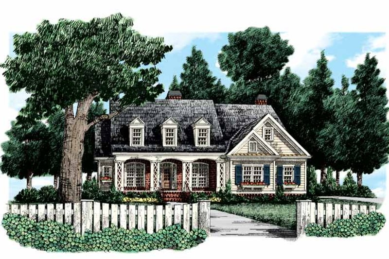 Country Exterior - Front Elevation Plan #927-307 - Houseplans.com