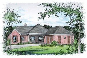 Traditional Exterior - Front Elevation Plan #15-385
