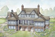 Country Style House Plan - 4 Beds 4.5 Baths 5270 Sq/Ft Plan #928-285 Exterior - Rear Elevation