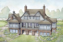 Dream House Plan - Country Exterior - Rear Elevation Plan #928-285