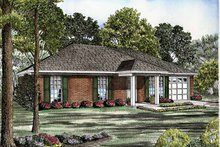 Colonial Exterior - Front Elevation Plan #17-3129