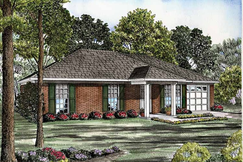 Home Plan - Colonial Exterior - Front Elevation Plan #17-3129
