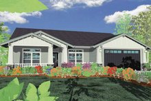Traditional Exterior - Front Elevation Plan #509-198