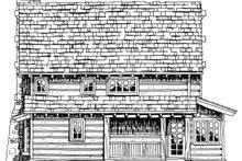 Cabin Exterior - Rear Elevation Plan #942-25