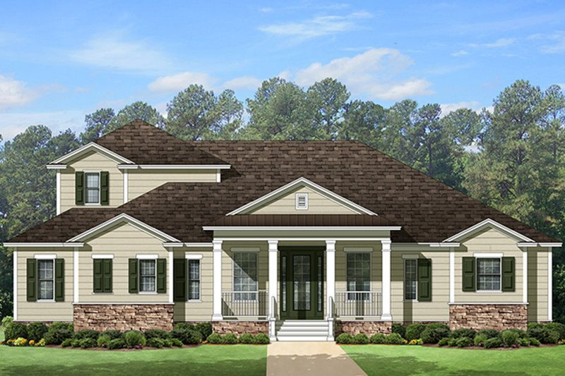 Country Exterior - Front Elevation Plan #1058-114 - Houseplans.com