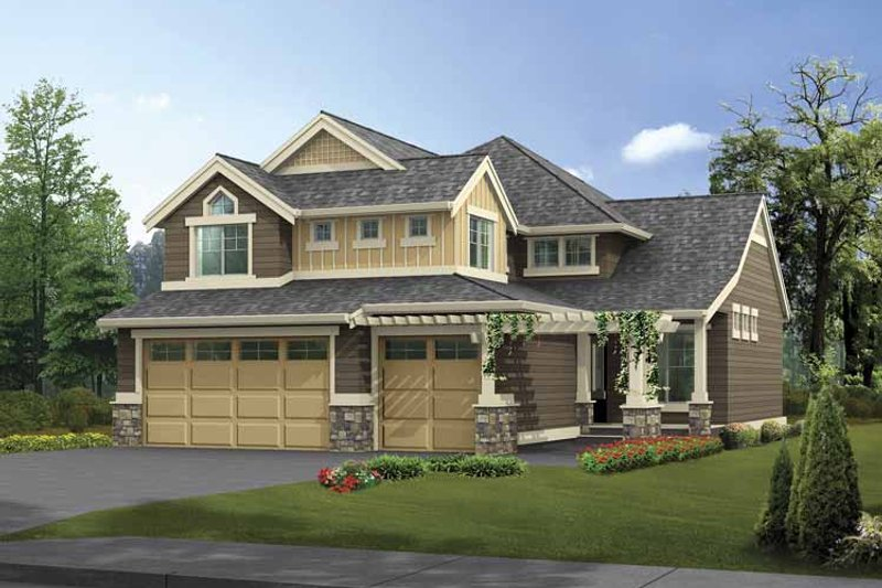 Craftsman Exterior - Front Elevation Plan #132-360