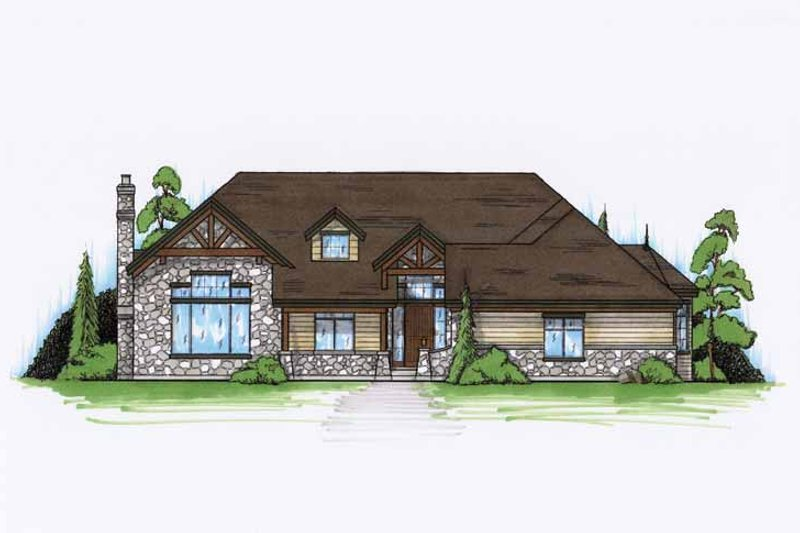 Craftsman Exterior - Front Elevation Plan #945-116