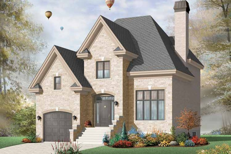 Dream House Plan - European Exterior - Front Elevation Plan #23-2440