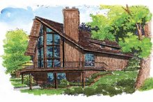 Contemporary Exterior - Front Elevation Plan #320-516