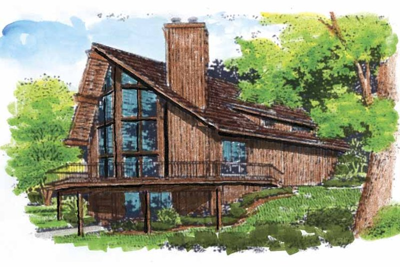 Contemporary Exterior - Front Elevation Plan #320-516 - Houseplans.com