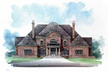 Classical Exterior - Front Elevation Plan #119-390