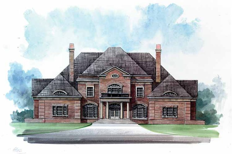 Classical Exterior - Front Elevation Plan #119-390 - Houseplans.com
