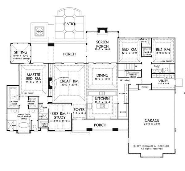 European Floor Plan - Main Floor Plan Plan #929-939