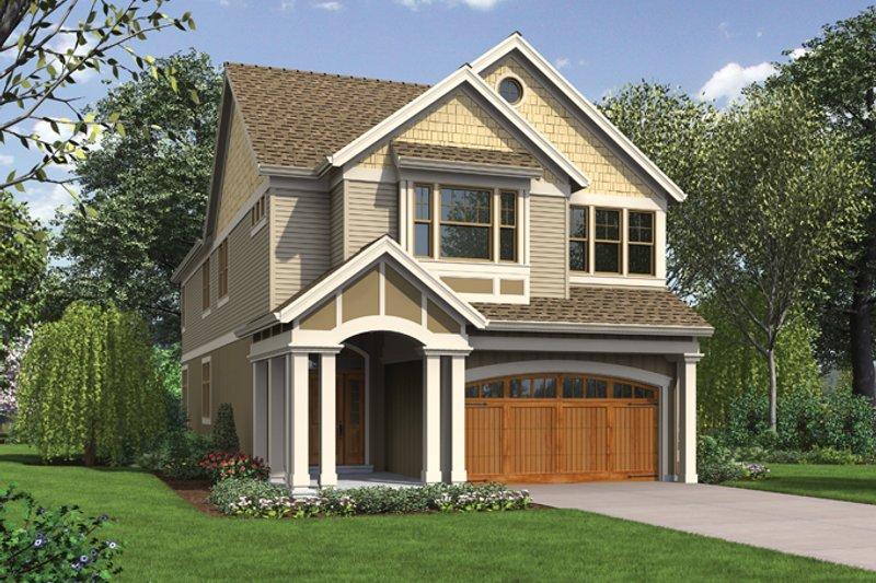 Architectural House Design - Craftsman Exterior - Front Elevation Plan #48-903