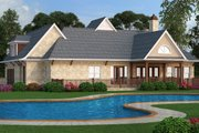 European Style House Plan - 3 Beds 2 Baths 1999 Sq/Ft Plan #119-420 Exterior - Rear Elevation