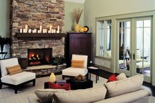 European Interior - Family Room Plan #929-899