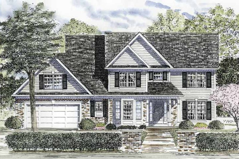 Home Plan - Colonial Exterior - Front Elevation Plan #316-189