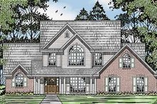 Home Plan - Country Exterior - Front Elevation Plan #42-595