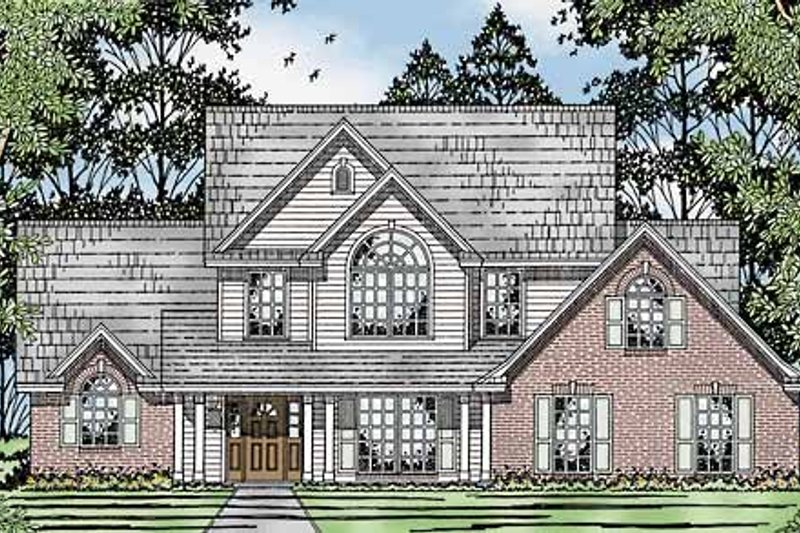 Country Exterior - Front Elevation Plan #42-595