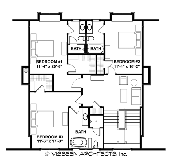 Country Floor Plan - Upper Floor Plan #928-285