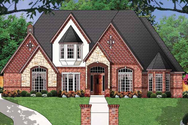 Country Exterior - Front Elevation Plan #62-160