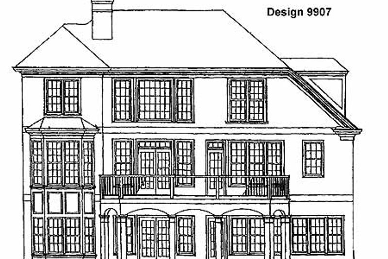 Country Exterior - Rear Elevation Plan #429-125 - Houseplans.com