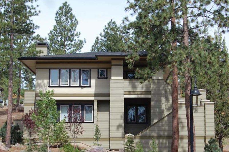Architectural House Design - Prairie Exterior - Front Elevation Plan #895-78