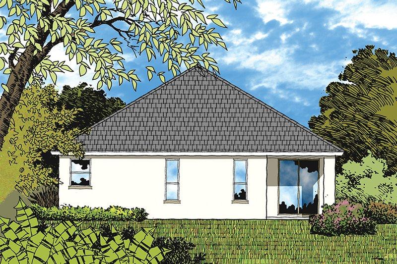 European Exterior - Rear Elevation Plan #417-849 - Houseplans.com