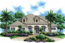 Architectural House Design - Mediterranean Exterior - Front Elevation Plan #1017-49
