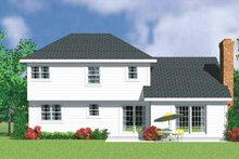 House Blueprint - Country Exterior - Rear Elevation Plan #72-1078